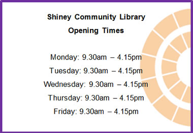 Shiney Community Library Revised Opening Times 2017